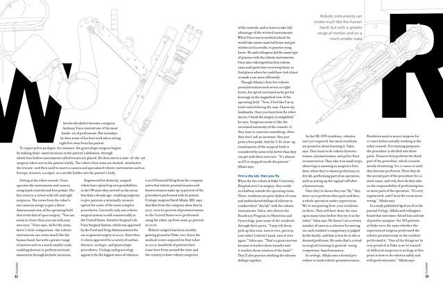 DukeMed magazine Winter 2009 OR robot illustration