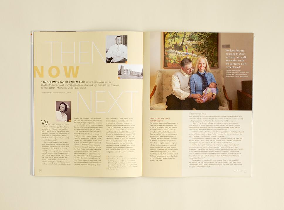 DukeMed Magazine Spring 2012 interior pages 3