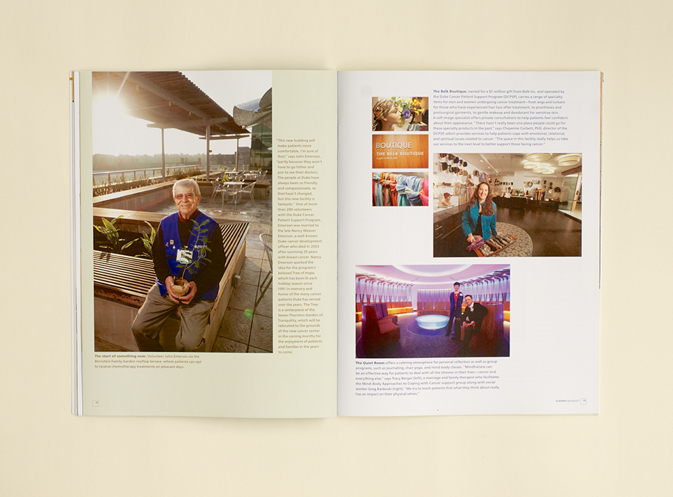 DukeMed Magazine Spring 2012 interior pages 5