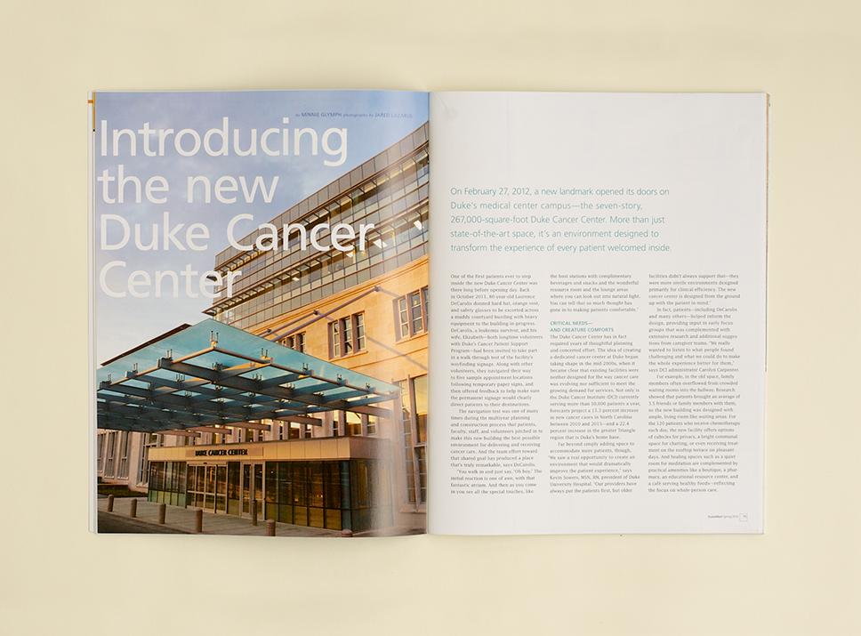 DukeMed Magazine Spring 2012 interior pages 1