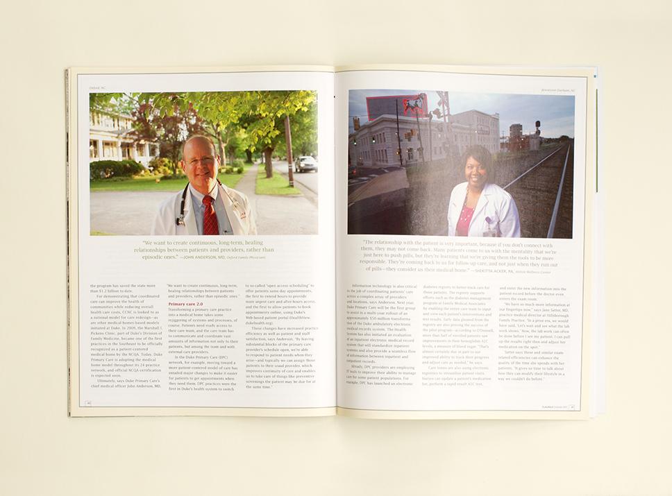 DukeMed Magazine Summer 2011 interior pages 1