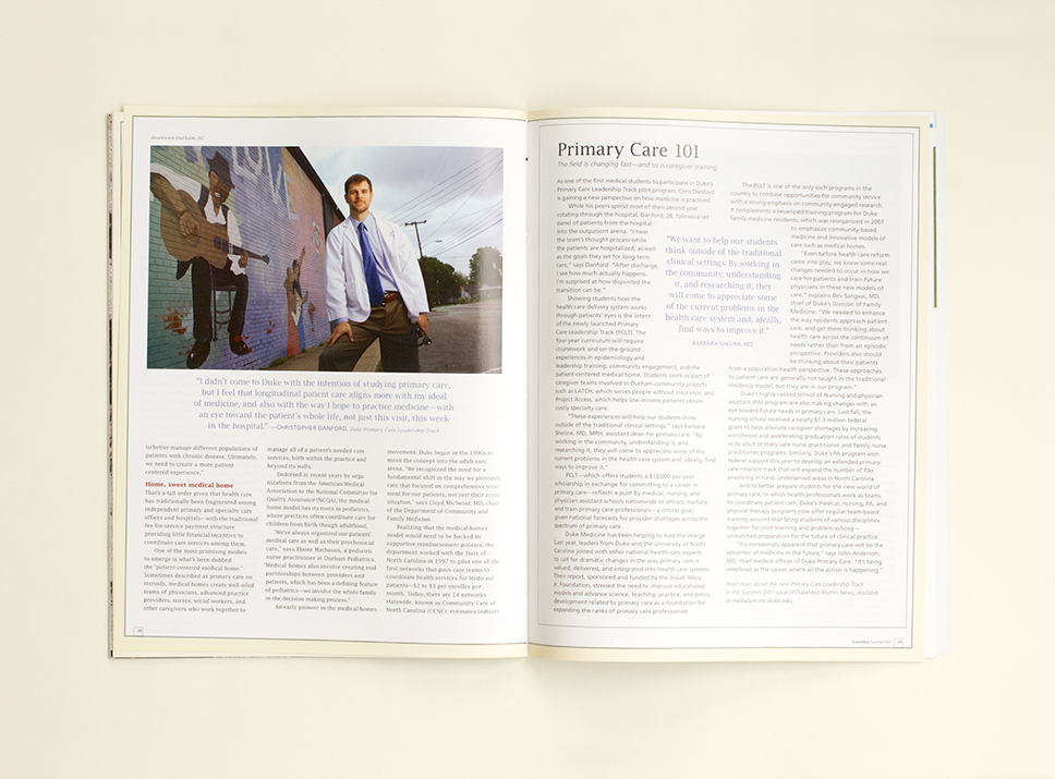 DukeMed Magazine Summer 2011 interior pages 2