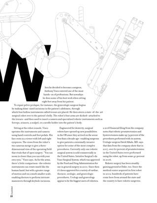 DukeMed magazine Winter 2009 OR robot illustration 1