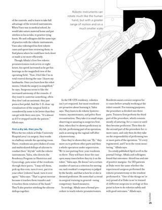 DukeMed magazine Winter 2009 OR robot illustration 2