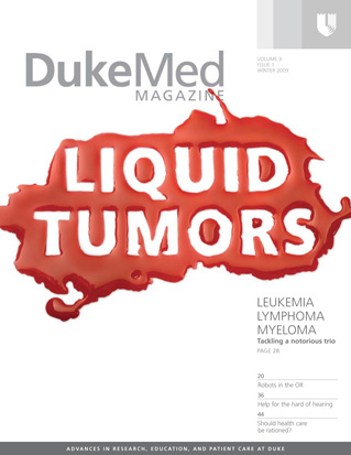 DukeMed magazine Winter 2009 cover art