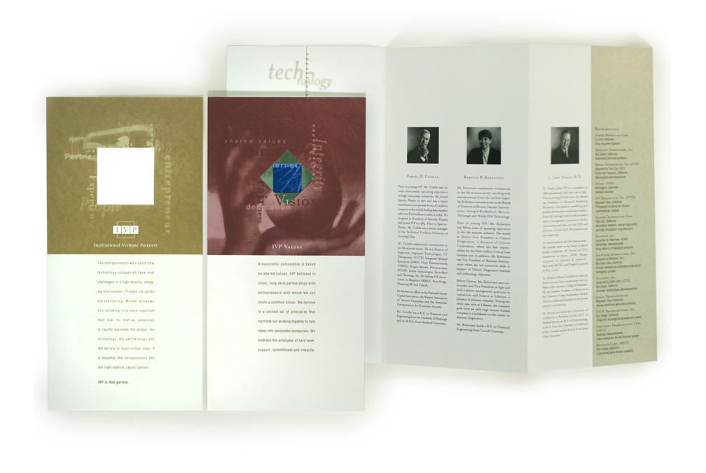 IVP brochure open