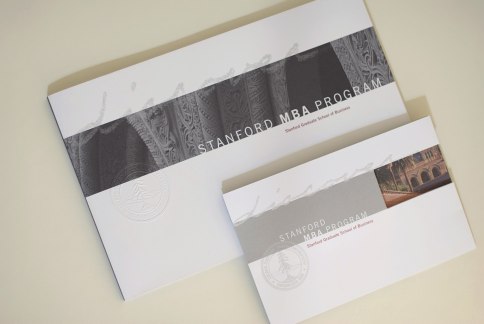 Stanford MBA brochure covers