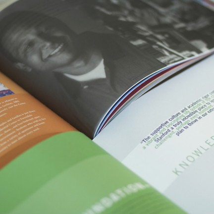 Stanford MBA brochure spreads