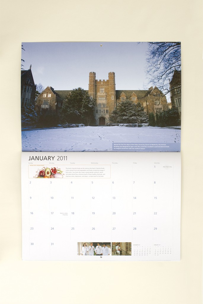 Duke Medicine 2011 Calendar, January