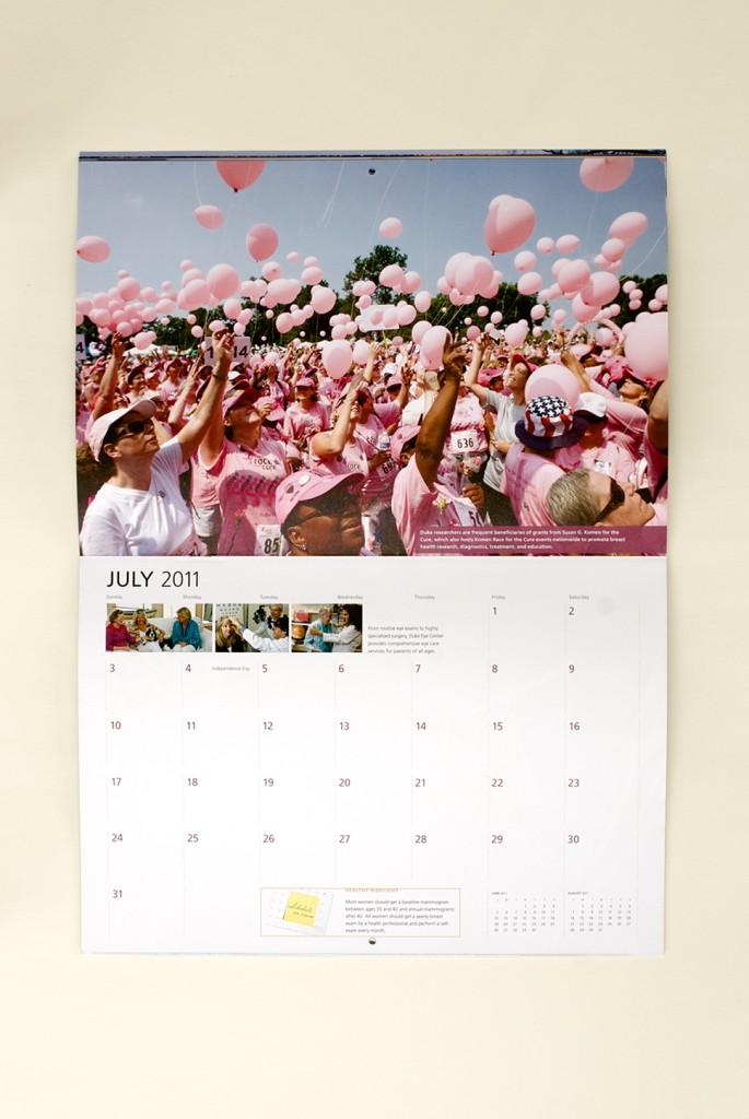 Duke Medicine 2011 Calendar, July