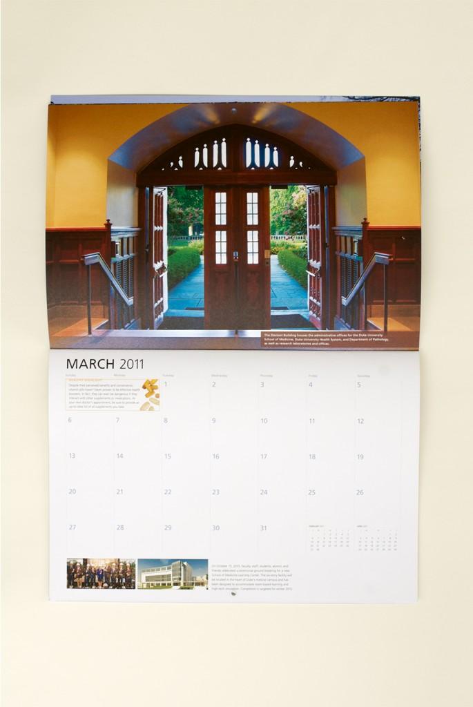 Duke Medicine 2011 Calendar, March