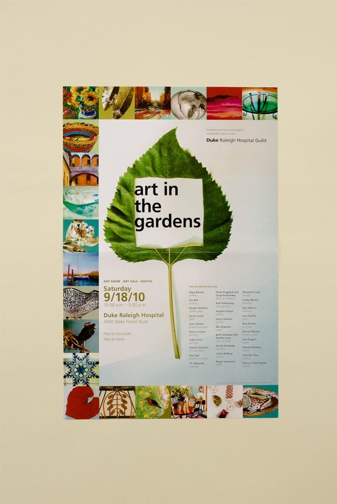 Duke Raleigh Hospital Art in the gardens poster