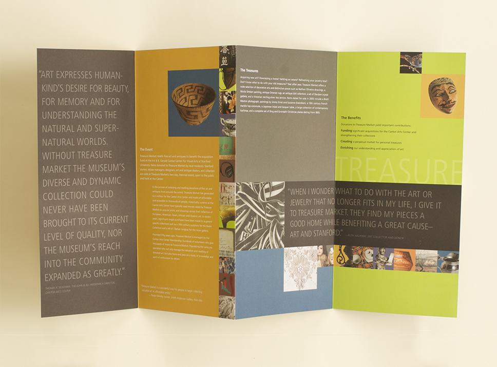 Stanford University Visual Arts program materials, accordion fold, side 2