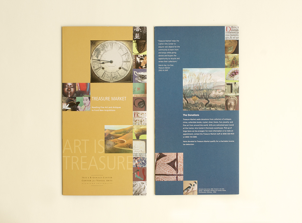 Stanford University Visual Arts program materials, front and back cover